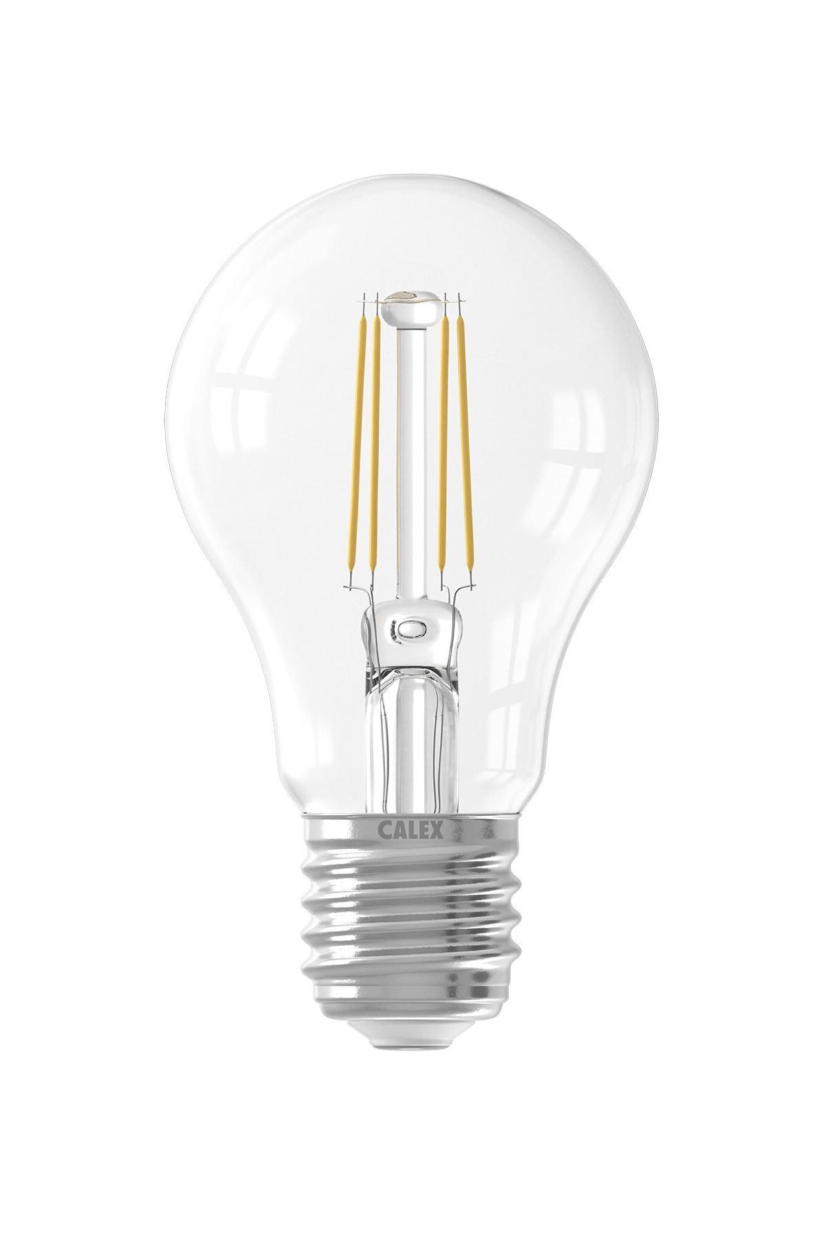 Calex LED volglas Filament Standaardlamp 240V 4W 400lm E27 A60, Helder 2700K met sensor