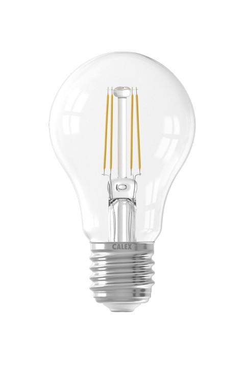 Calex LED volglas Filament Standaardlamp 220-240V 4W 400lm E27 A60, Helder 2700K met sensor