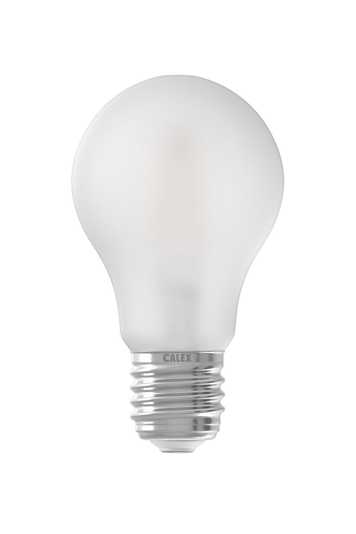 Calex Satin Mat LED A60 Standaardlamp 220-240V 1,3-2,8-5,5W 150-350-600lm E27, 2700K 3 staps