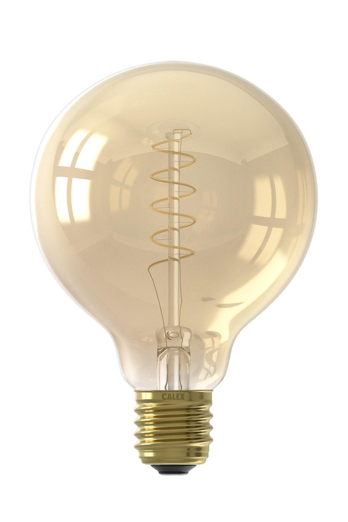 Calex Led Full Glass Flex Filament Globe Lamp 240v 4w 200lm E27 G95