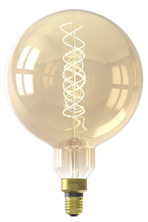 Megaglobe Gold led lamp 4W 200lm 2100K Dimbaar