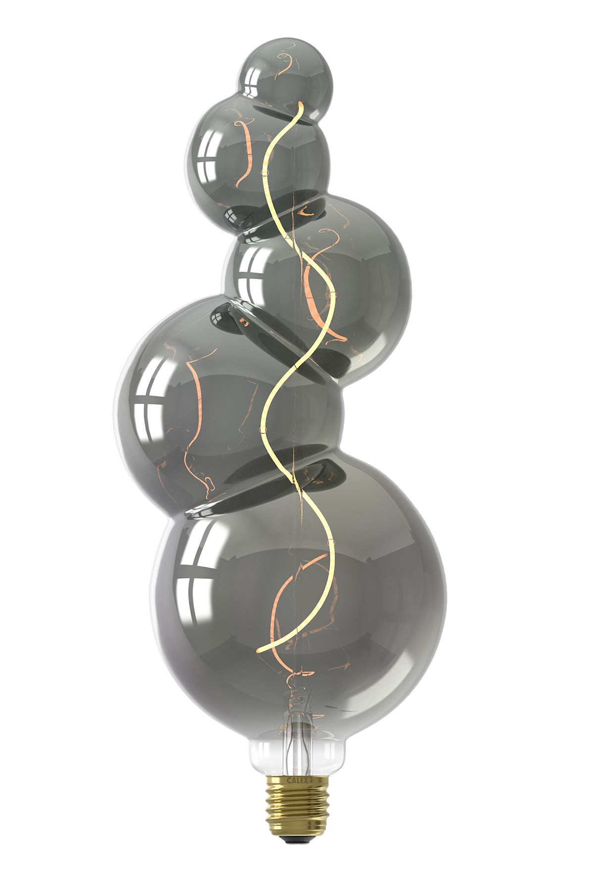 Calex Alicante Led lamp 240V 4W 60lm E27, Titanium 2100K dimbaar