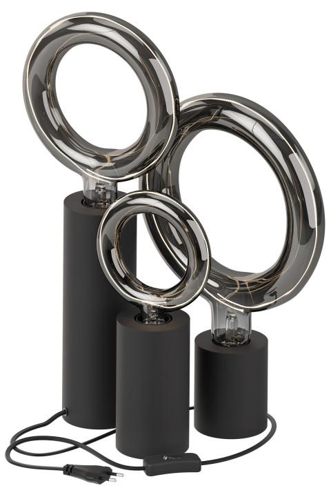 Rada set Titanium: Small, Medium, Large incl. 3 E27 Lampholders Black