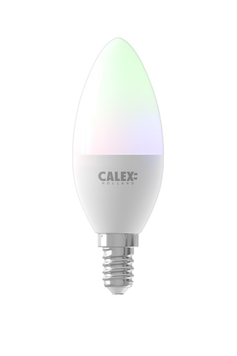 Calex Smart RGB Kaars led lamp 5W 470lm 2200-4000K
