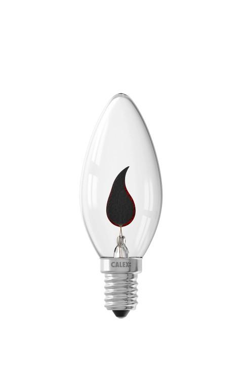 Kaarslamp met speciaal decoratief filament 240V 3W helder glas