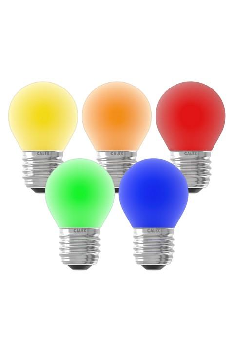 Gekleurde LED kogellamp 220-240V 1W 5-pack