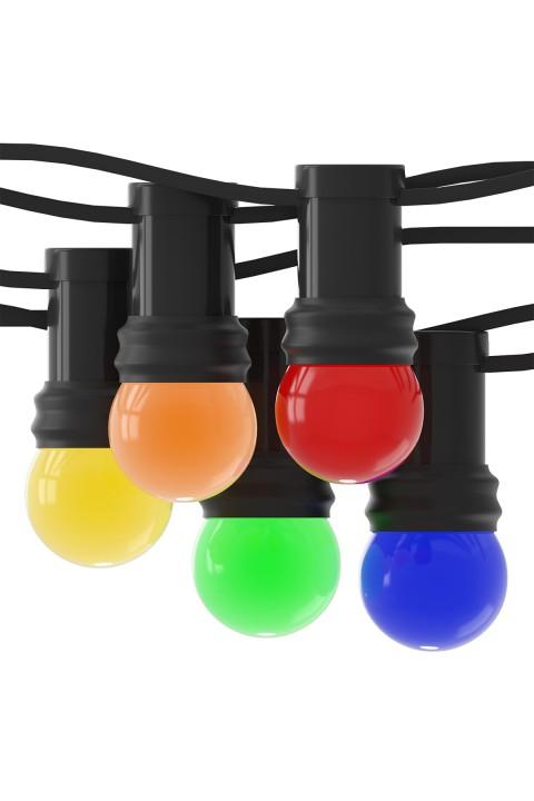 Partystring met LED kogellampen 240V 1W