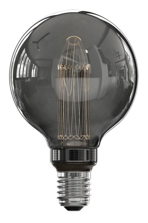 Globe G95 led lamp 3.5W 40lm 2000K Titanium dimbaar