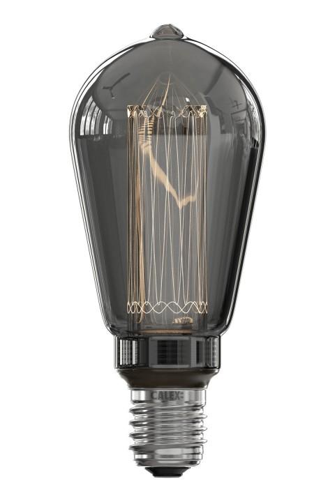 Rustic ST64 led lamp 3,5W 40lm 2000K Titanium dimbaar