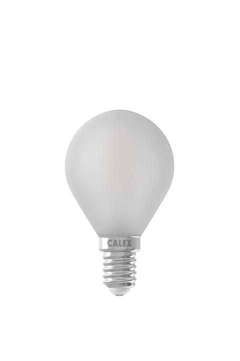 Calex LED volglas Filament Kogellamp 220-240V 3,5W 300lm E14 P45, Mat buitenkant 2700K CRI80 Dimbaar