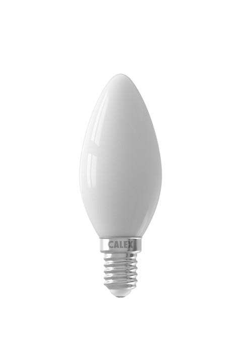 Calex LED Full Glass Filament Candle-lamp 220-240V 4W 450lm E14 B35, Softline 2700K CRI80 Dimmable