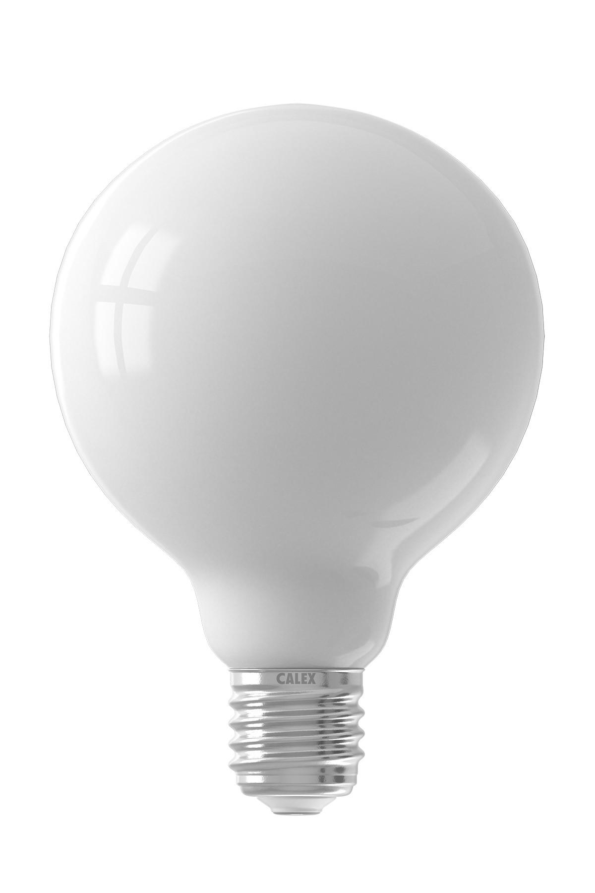 Calex LED Full Glass Filament Globe Lamp  220-240V 7W 800lm E27 G80, Softline 2700K
