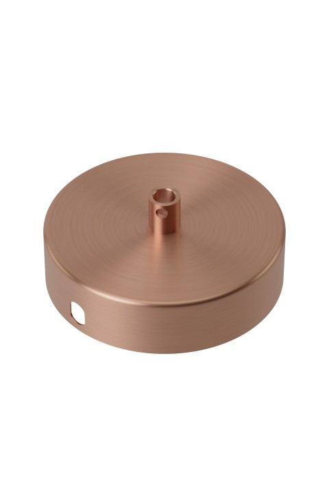 Calex metal ceiling rose 100mm 1 hole, matt copper