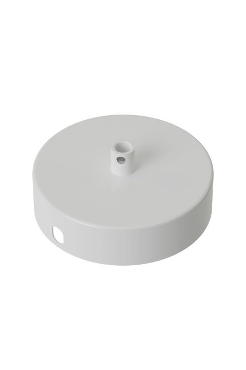 Calex metal ceiling rose 100mm 1 hole, matt white