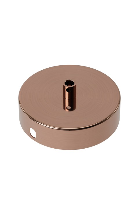 Calex metal ceiling rose 100mm 1 hole, shiny copper