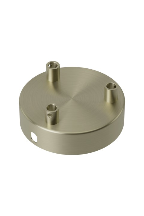 Calex metal ceiling rose 100mm 3 hole, matt bronze