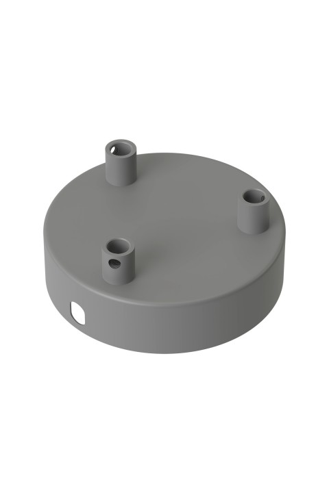 Calex metal ceiling rose 100mm 3 hole, concrete