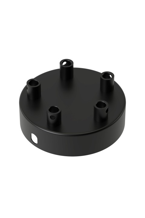 Calex metal ceiling rose 100mm 5 hole, matt black