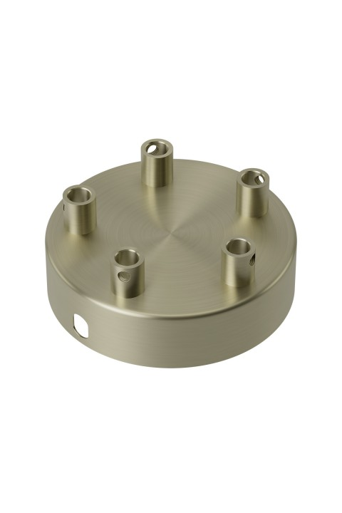 Calex metal ceiling rose 100mm 5 hole, matt bronze
