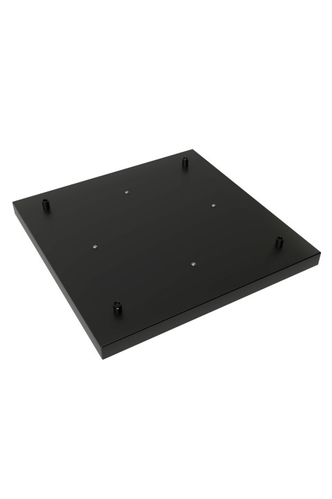 Calex metal ceiling plate 40x40cm 4 hole, matt black
