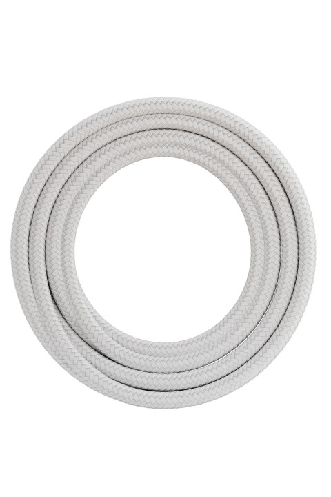 Calex fabric cable 2x0,75qmm 1,5M white, max.250V-60W