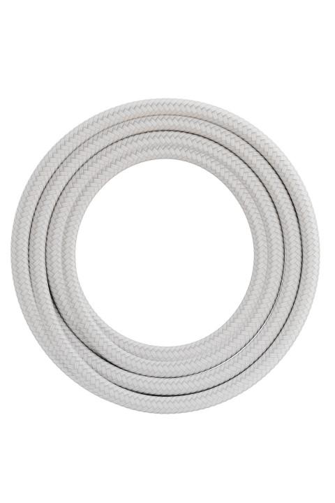 Calex textiel omwikkelde kabel 2x0,75mm2 1,5M wit, max.250V-60W