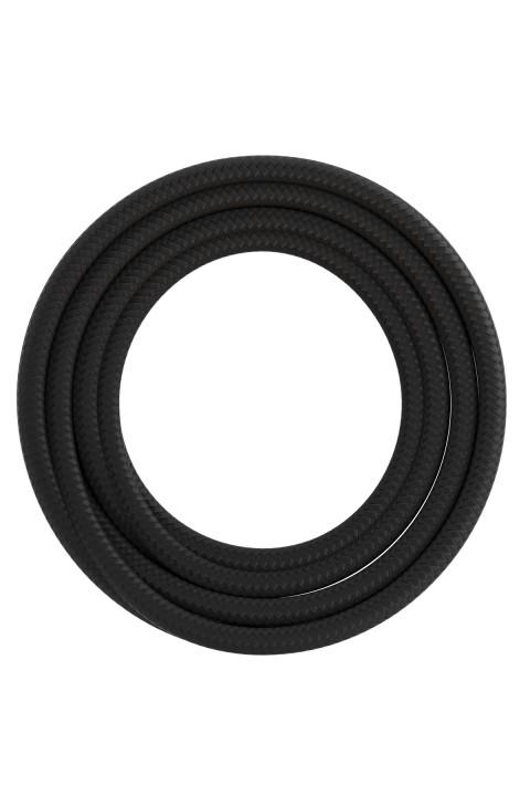 Calex textiel omwikkelde kabel 2x0,75mm2 1,5M zwart, max.250V-60W