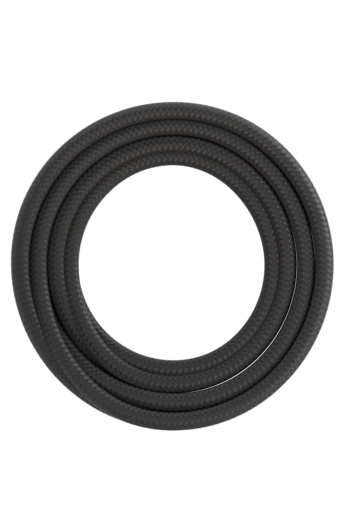 Calex textiel omwikkelde kabel 2x0,75mm2 1,5M grijs, max.250V-60W
