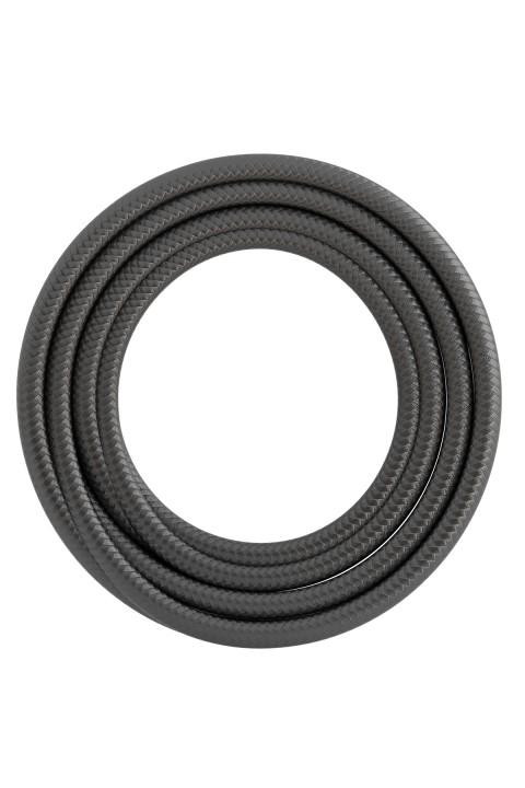 Calex textiel omwikkelde kabel 2x0,75mm2 1,5M metallic grijs, max.250V-60W