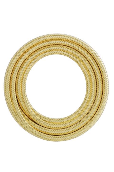 Calex textiel omwikkelde kabel 2x0,75mm2 1,5M metallic goud, max.250V-60W