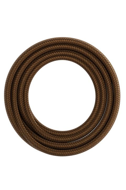 Calex textiel omwikkelde kabel 2x0,75mm2 1,5M metallic bruin, max.250V-60W