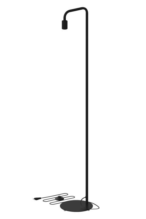 U-Line vloerlamp zwart E27 -  hoogte 155 cm