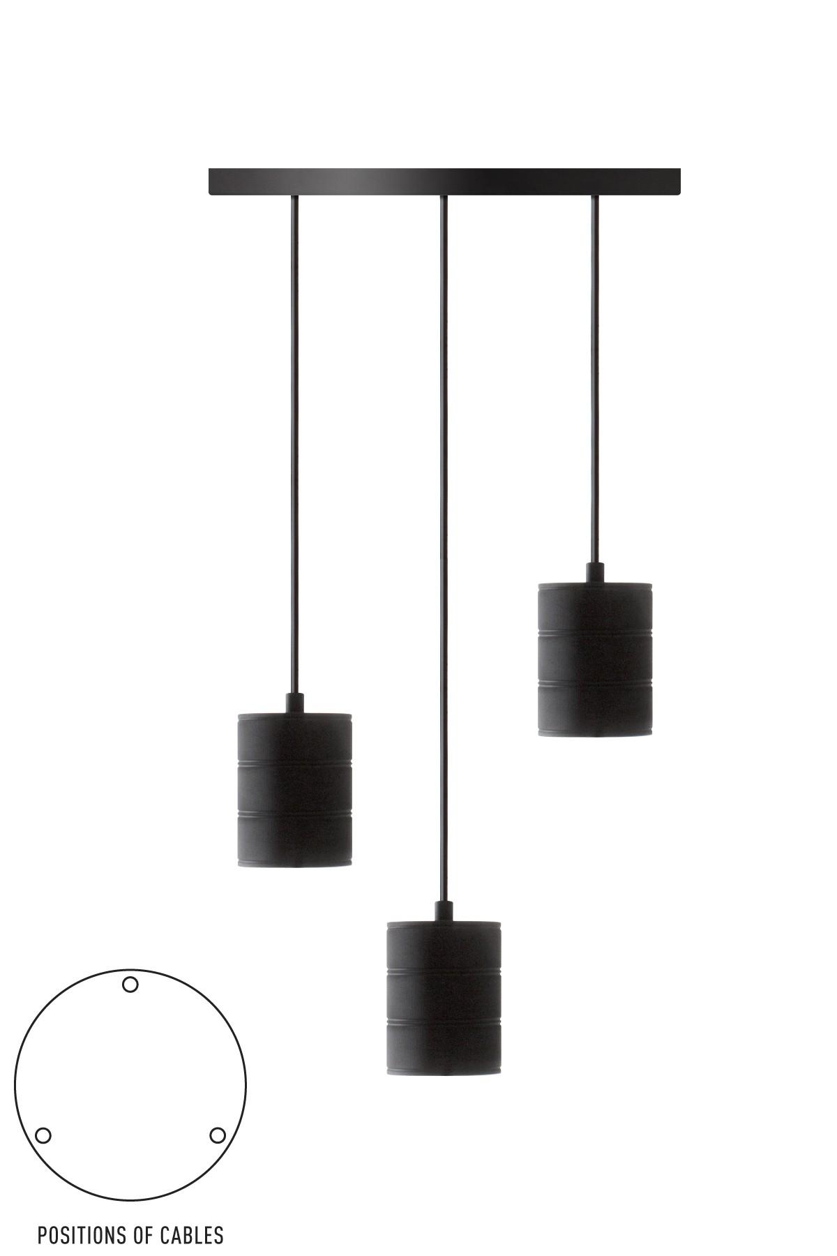 Giant Multi Pendule Zwart 3 E40