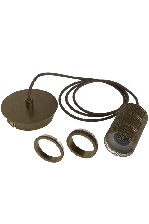Cord Set Antique Bronze E27 fitting